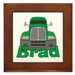 Trucker Brad Framed Tile