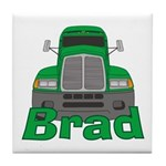 Trucker Brad Tile Coaster