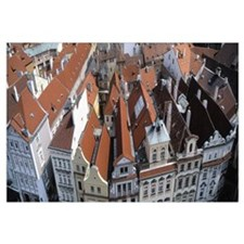 High angle view of buildings in a city, Czech Repu