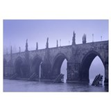 Bridge over a river, Charles Bridge, Prague, Czech