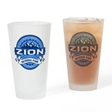 Zion Logo Cobalt Drinking Glass