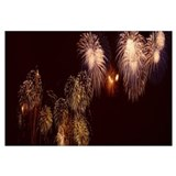 Low angle view of fireworks in the sky, Vancouver,
