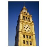 Low angle view of a clock tower, Wrigley Building,