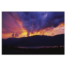 Low angle view of clouds at dusk, Kelowna, British