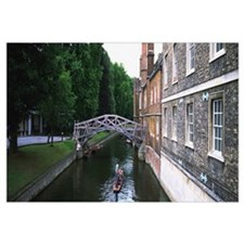 Bridge across a canal, Cambridge, England