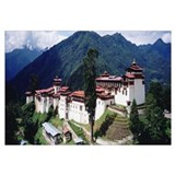 Castle on a mountain, Trongsar Dzong, Trongsar, Bh