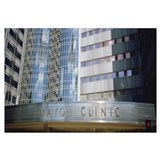 Text on a building, Mayo Clinic, Rochester, Minnes