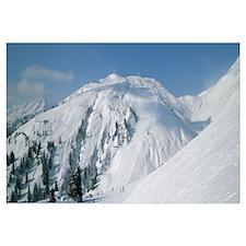 Ski area in the mountains, Galzig, St. Anton, Aust