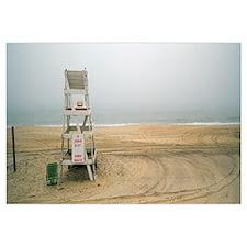 Lifeguard chair on the beach, Montauk, New York St