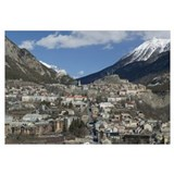 High angle view of town, Briancon, French Alps, Pr
