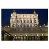 Building lit up at dusk, Opera Garnier, Paris, Fra