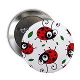 "Cute Ladybug pattern 2.25"" Button"