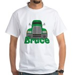Trucker Bruce White T-Shirt