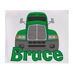 Trucker Bruce Throw Blanket