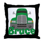 Trucker Bruce Throw Pillow