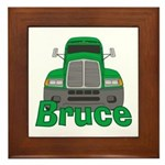 Trucker Bruce Framed Tile