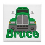 Trucker Bruce Tile Coaster
