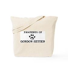 Pawperty: Gordon Setter Tote Bag