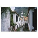 Buildings along a staircase, Sao Vicente, Madeira,