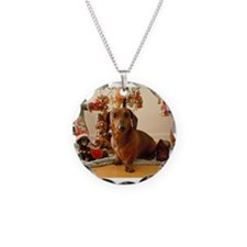 Christmas Dachshund (Ver1) Necklace