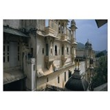 High angle view of a palace, Udaipur City Palace,