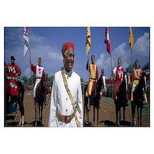 Maharajah with German horse knights, Pratap Horse