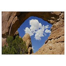 Natural arch on a landscape, Arches National Park,