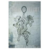 The Medusa vs The Odalisque mini poster