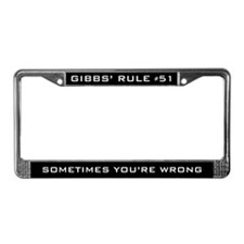 NCIS Gibbs' Rule #51 License Plate Frame