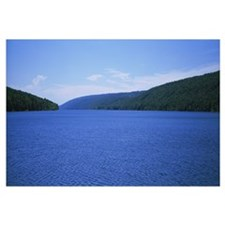 Panoramic view of a lake, Hemlock Lake, Finger Lak