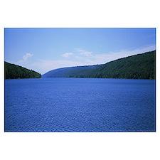 Panoramic view of a lake, Hemlock Lake, Finger Lak