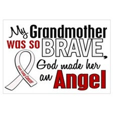 Angel 1 GRANDMOTHER Lung Cancer Wall Art