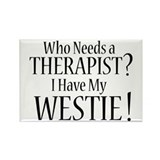 THERAPIST Westie Rectangle Magnet