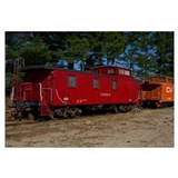 Red & Orange Caboose Wall Art