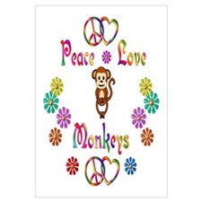 Peace Love Monkeys Wall Art