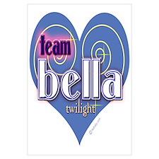 Team Bella Big Blue Heart Wall Art