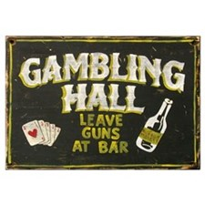 Gambling Hall, Leave Guns At Bar Framed Print