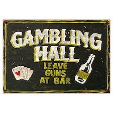 Gambling Hall, Leave Guns At Bar Framed Print
