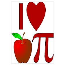 I Heart Apple Pi Wall Art