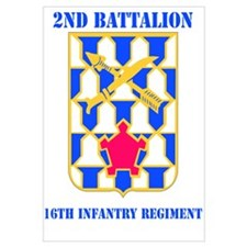 DUI - 2nd Bn - 16th Infantry Regt with Text Mini P