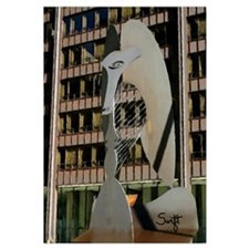 Chicago Picasso Sculpture Wall Art