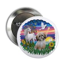 "MagicalNight-ShihTzu#13 2.25"" Button (10 pack)"