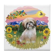 MtCountry-ShihTzu#13 Tile Coaster