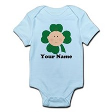 Personalized Irish Baby Shamrock Infant Bodysuit