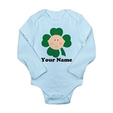 Personalized Irish Baby Shamrock Long Sleeve Infan