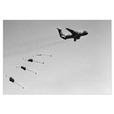 C-141 Air Drop Wall Art