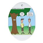 KNOTS Staff Hunt Camp Games Ornament (Oval)