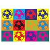Soccer Pop Art Wall Art