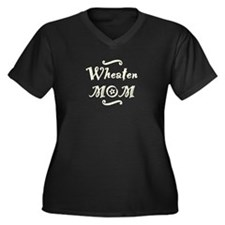 Wheaten MOM Women's Plus Size V-Neck Dark T-Shirt