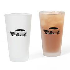 1970 Challenger White Drinking Glass